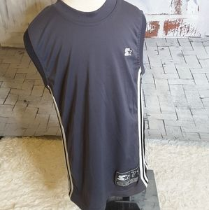 3/$15 Starter grey black athletic tank top sz XS